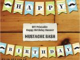 Create Happy Birthday Banner Online Free Items Similar to Instant Download Mustache Diy Party
