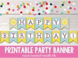 Create Happy Birthday Banner Online Free Items Similar to Sunshine Happy Birthday Banner Instant