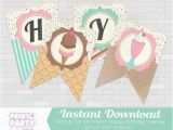Create Happy Birthday Banner Online Ice Cream Happy Birthday Banner Ice Cream Shoppe Birthday