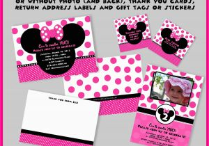 Create Minnie Mouse Birthday Invitations Best Party Templates Egreeting