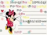Create Minnie Mouse Birthday Invitations Free Birthday Invitations to Print Free Invitation