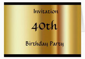 Create My Own Birthday Invitations Your 40th Invitation Card Zazzle