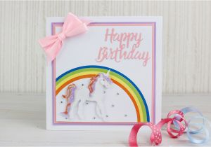 Creating A Birthday Card How To Make Die Cut Unicorn Hobbycraft Blog