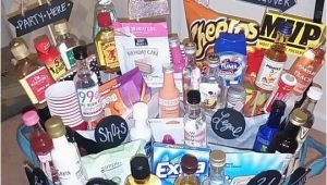Creative 21st Birthday Gifts for Him 21st Birthday Basket Gift Baskets Birthday Gifts for