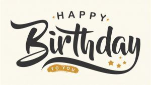 Creative Happy Birthday Quotes Creative Happy Birthday Letter Vector Premium Download