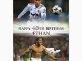 Cristiano Ronaldo Happy Birthday Card C029 Large Personalised Birthday Card Custom Made for Any