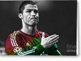 Cristiano Ronaldo Happy Birthday Card Cristiano Ronaldo Greeting Cards for Sale Fine Art America