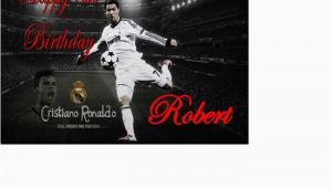 Cristiano Ronaldo Happy Birthday Card Cristiano Ronaldo Real Madrid Portugal Birthday Card