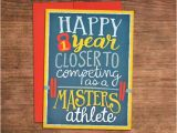 Crossfit Birthday Cards Almost A Masters athlete Crossfit Birthday Card