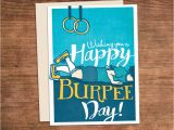 Crossfit Birthday Cards Crossfit Birthday Burpee Card Happy Burpee Day Customized