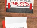 Crossfit Birthday Cards Crossfit Love Valentines Card Love Greeting Card for