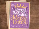 Crossfit Birthday Cards Happy Birthday Fitness Queen Crossfit Weightlifting