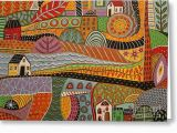 Crossroads Birthday Cards Crossroads Painting by Karla Gerard
