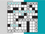 Crossword Birthday Card Birthday Crossword Card Birthday by Brookhollow