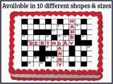 Crossword Birthday Card Crossword Puzzle Edible Birthday Wedding Party Cake Cupcake