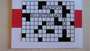 Crossword Birthday Card Rhapsody Of Cacophony Dad 39 S Crossword Birthday Card
