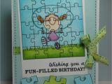 Crossword Birthday Card the Cricut Bug Puzzle Birthday Card