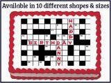 Crossword Puzzle Birthday Card Crossword Puzzle Edible Birthday Wedding Party Cake Cupcake