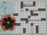 Crossword Puzzle Birthday Card Lizzies Crafting Retreat Crossword Puzzle Card