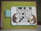 Crossword Puzzle Birthday Card One Handmade Birthday Card Crossword Puzzle by Strandedpaper
