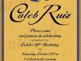 Crown Royal Birthday Invitations Custom Crown Royal Canadian Whiskey Label by