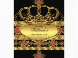 Crown Royal Birthday Invitations King Prince Royal Gold Red Crown Birthday Party 2 5×7