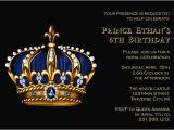 Crown Royal Birthday Invitations Prince Birthday Invitation Gold Crown for Royal King Kids