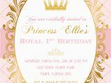 Crown Royal Birthday Invitations Princess Birthday Invitation Princess Invitation Pink