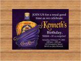Crown Royal Birthday Invitations Printable Custom Invitation Crown Royal themed Party