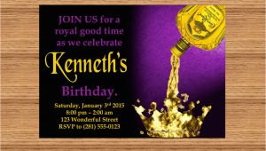 Crown Royal Birthday Invitations Printable Custom Invitation Crown Royal themed Party