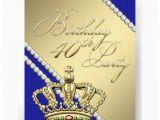 Crown Royal Birthday Invitations Queen Crown Royal Blue 40th Birthday Party 11 Cm X 14 Cm