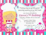 Cupcake Decorating Birthday Party Invitations Cupcake Decorating Birthday Party Invitation by