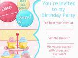 Cupcake Decorating Birthday Party Invitations Cupcake Decorating Party Invitation Putting On A Party