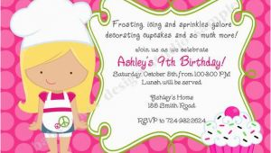 Cupcake Decorating Birthday Party Invitations Cupcake Invitation Cupcake Decorating Party Cupcake Birthday