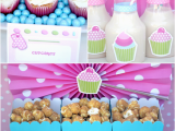 Cupcake Decorating Ideas for Birthday Party A Very Sweet Pink Cupcake Baking Birthday Party Party