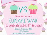 Cupcake Wars Birthday Party Invitations 25 Best Ideas About Cupcake Invitations On Pinterest