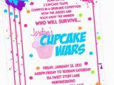 Cupcake Wars Birthday Party Invitations Cupcake Wars Baking Party Invitation Printed by Sweet by