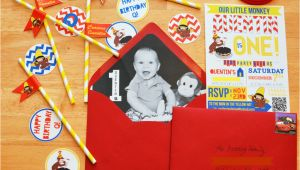 Curious George 1st Birthday Invitations Curious George themed 1st Birthday Party Project Nursery