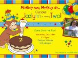 Curious George 2nd Birthday Invitations 2nd Curious George Birthday Invitations Anouk Invitations