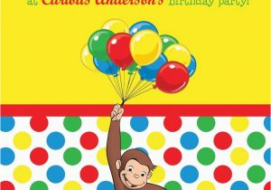 Curious George 2nd Birthday Invitations Best 25 Curious George Invitations Ideas On Pinterest
