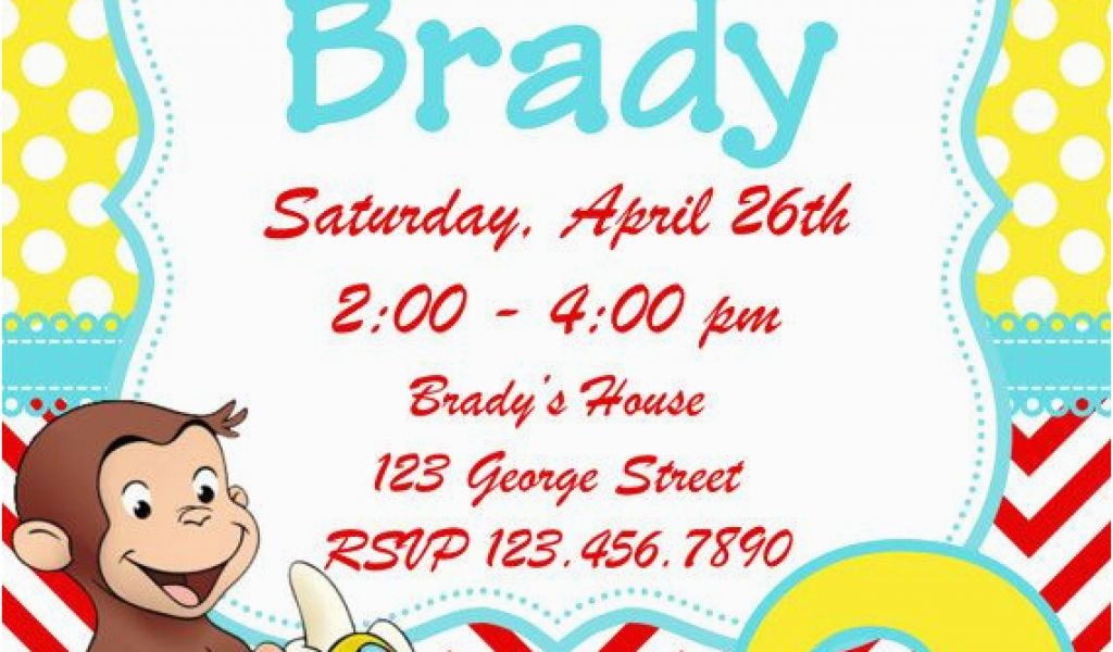 Download By SizeHandphone Tablet Desktop Original Size Back To Curious George 2nd Birthday Invitations