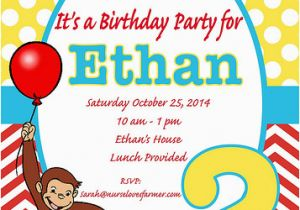 Curious George 2nd Birthday Invitations Curious George Birthday Party Nurse Loves Farmer