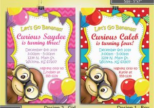 Curious George 2nd Birthday Invitations Unique Ideas for Curious George Birthday Invitations