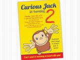 Curious George Birthday Cards Curious George Birthday Invitation Printable Download Print at