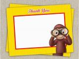 Curious George Birthday Cards Curious George Blank Birthday Thank You Cards