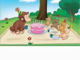 Curious George Birthday Cards Picnic Birthday Card New Cg Product