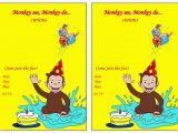 Curious George Birthday Invites Curious George Birthday Invitations Bagvania Free