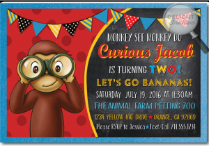 Curious George Birthday Invites Curious George Birthday Invitations Di 395 Ministry
