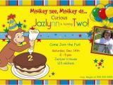 Curious George Birthday Invites Curious George Birthday Party Invitations Bagvania Free