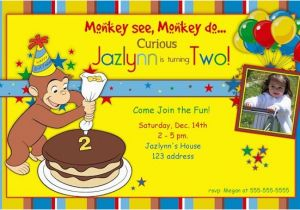 Curious George Birthday Invites Curious George Birthday Party Invitations Bagvania Free